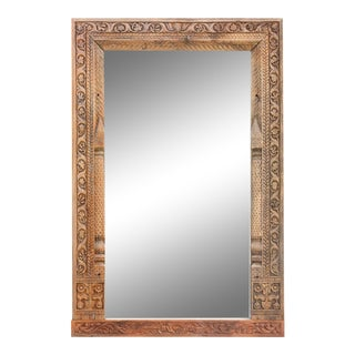 Antique Lavishly Carved Phula Mirror For Sale