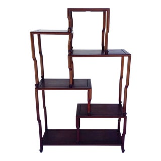 c1910-30s Asian Antique Rosewood Etagere For Sale