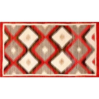 "Navajo Style Geometric Rug - 3'0"" x 5'6"" For Sale"