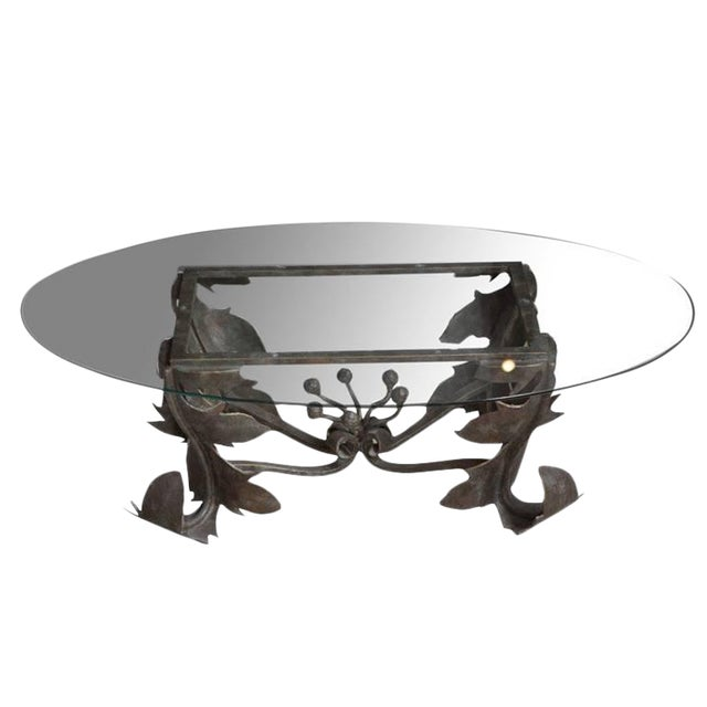 Hand-Forged Low Table For Sale