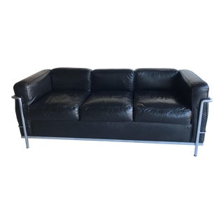 1980s Le Corbusier Lc2 Three Seat Sofa For Sale