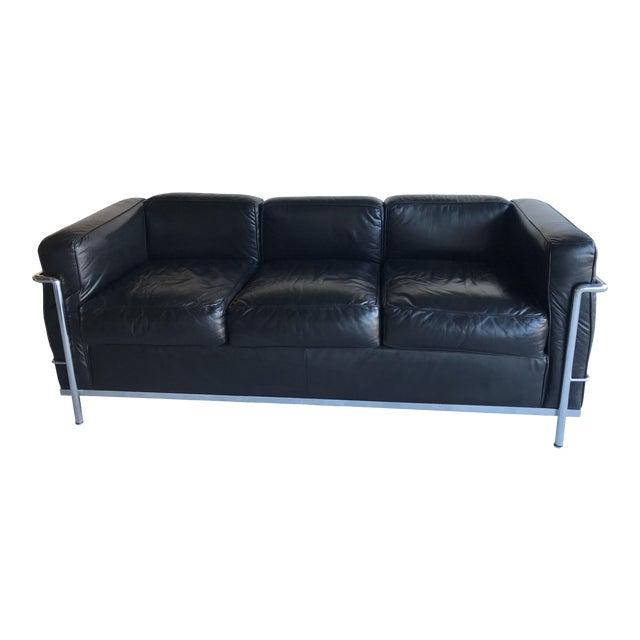 1980s Le Corbusier Lc2 Three Seat Sofa For Sale