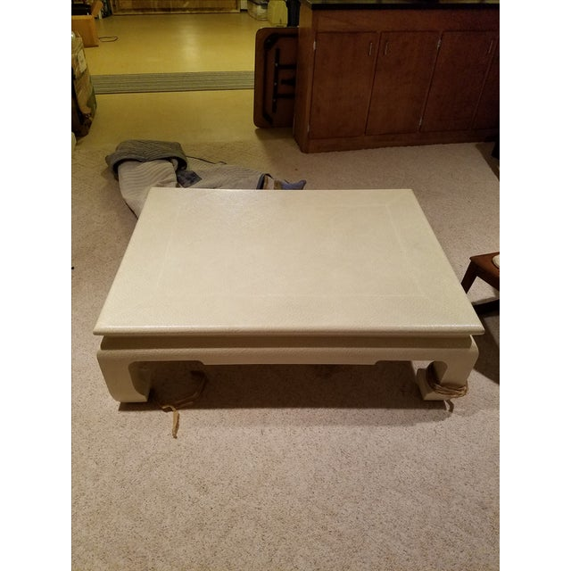 Custom Egg Shell Ming Style Rectangle Coffee Table - Image 3 of 7