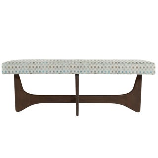 Mid-Century Modern Sculptural Walnut Bench For Sale