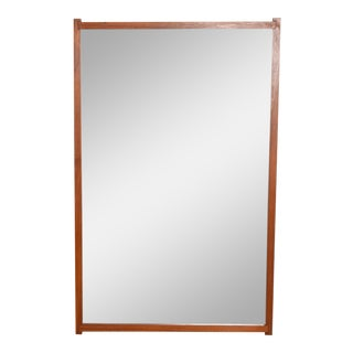 Mid-Century Danish Modern Teak Mirror For Sale