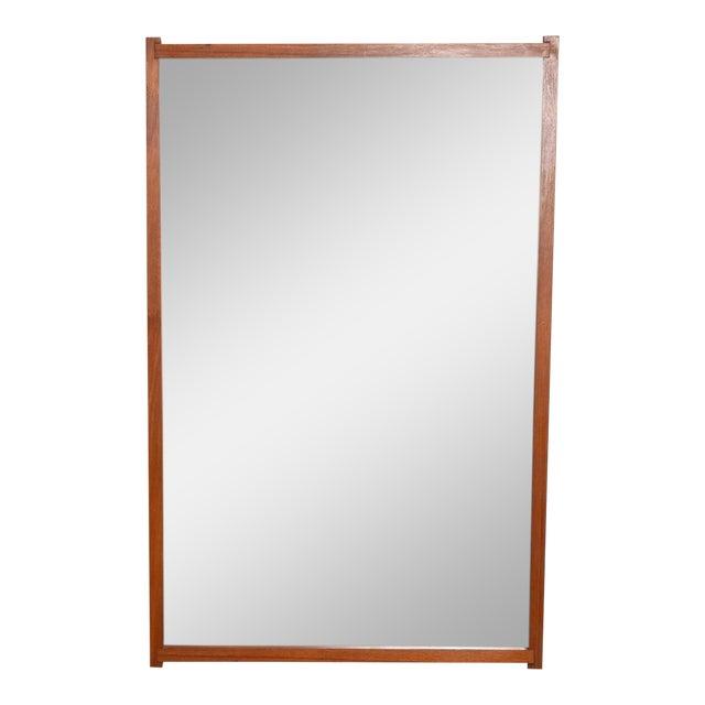 Mid-Century Danish Modern Teak Mirror For Sale