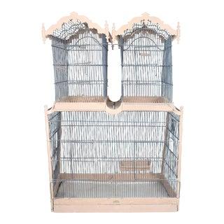19th Century Napoleon III Parisian Town House Bird Cage For Sale