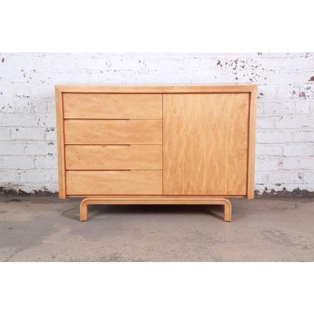 Edmond Spence Swedish Modern Maple Sideboard Credenza, Newly Refinished For Sale - Image 13 of 13