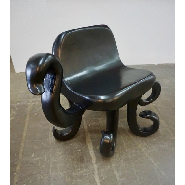 "Ebony 1960s Vintage Unusual ""Octopus"" Side Chair For Sale - Image 8 of 8"