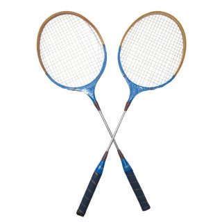 Old School Badminton Racquets, A Pair For Sale