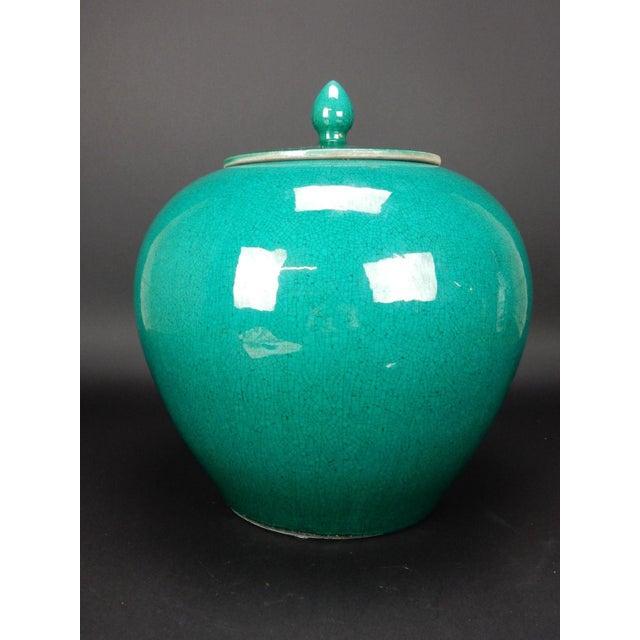 Chinese Crackle Glazed Ginger Jar - Image 11 of 11