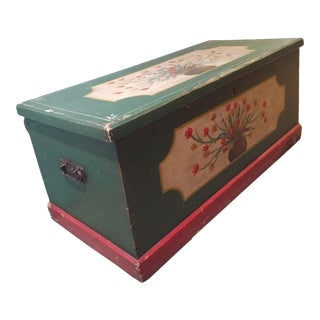 Antique British Painted Chest For Sale