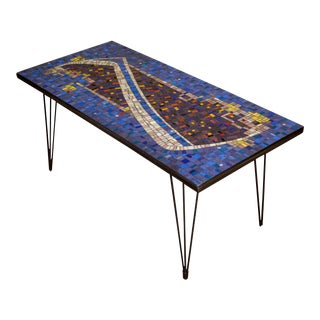 Mosaic Cocktail or Coffee Table For Sale