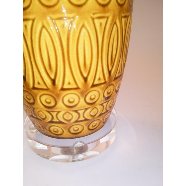 Electrified Mid-Century West German Vase For Sale - Image 4 of 6