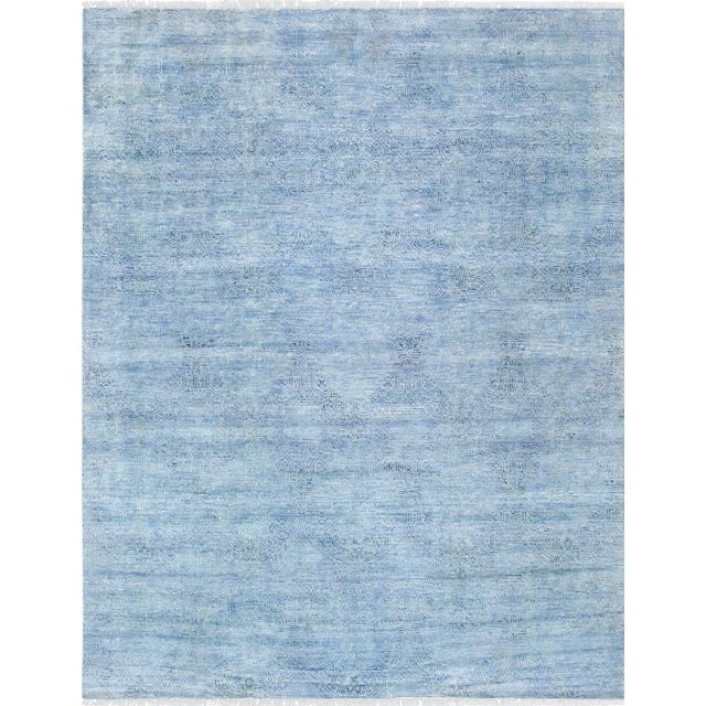 Pasargad transitional silk wool area rug 8 39 1 x 10 39 6 chairish - How to make a wool accent rug work for your space ...