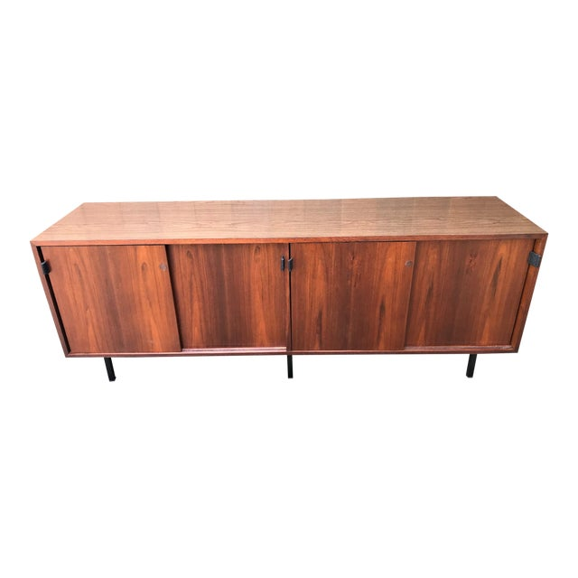 1960s Florence Knoll Walnut Sideboard For Sale