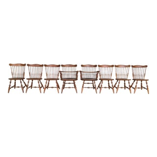 Ethan Allen Governor Bradford Windsor Dining Chairs - Set of 8 For Sale