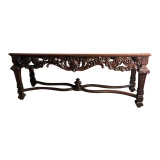 20th Century English Traditional Wooden Console Table For Sale