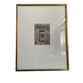 Black and White Photograph of Remaining Doorway For Sale