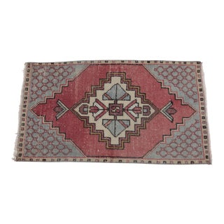 1960s Vintage Turkish Tribal Konya Hand-Knotted Rug - 1′8″ × 3′ For Sale