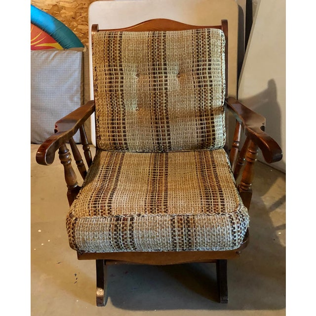 Mid-Century Modern Rocking Chair For Sale - Image 4 of 8