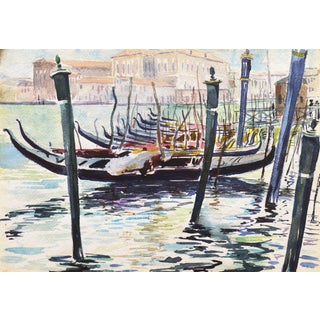 'View of Venice' by Ralph Fanning, Circa 1929; National Watercolor Society, Art Institute Chicago, Ohio University For Sale
