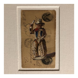 """Original Illustration """"Dimestore Cowboy Toy"""" Painting by Stephen Heigh For Sale"""