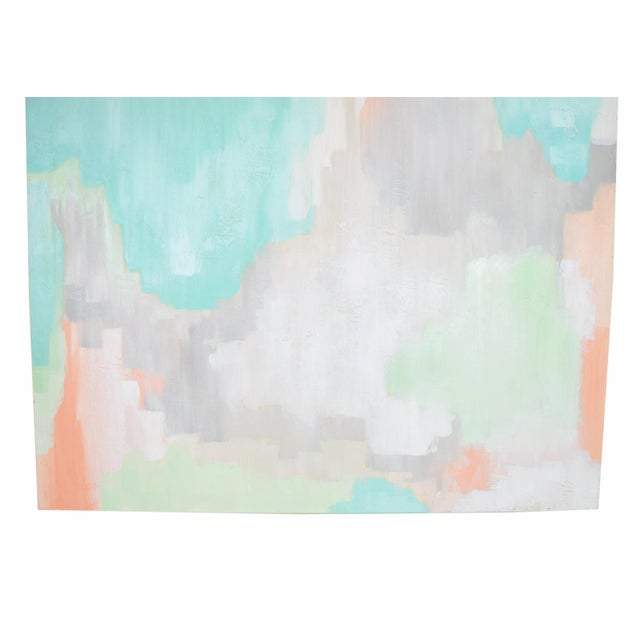 Paint Modern Pastel Abstract Expressionist Oil Painting Sarah Brooke Australian For Sale - Image 7 of 9