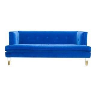 Modern Royal Blue Velvet Sofa For Sale