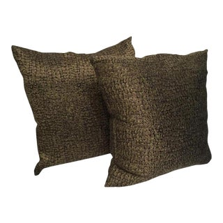 Custom Made Textured Pattern Pillows - A Pair