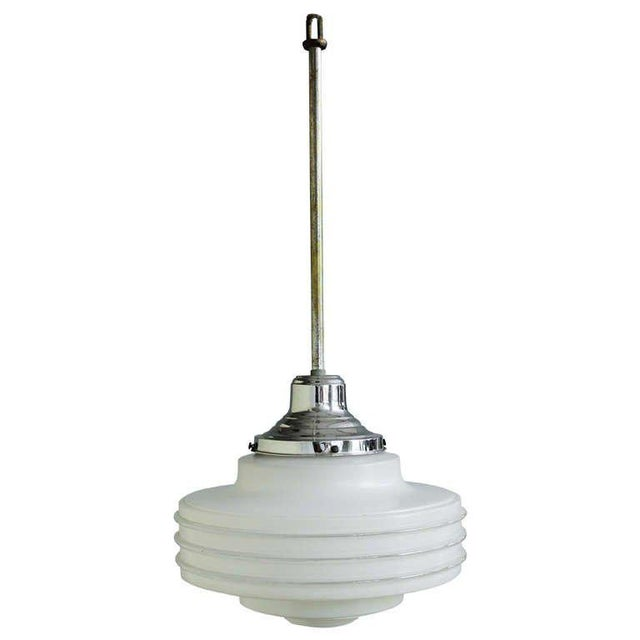 Frosted Glass Ceiling Fixture For Sale - Image 10 of 10
