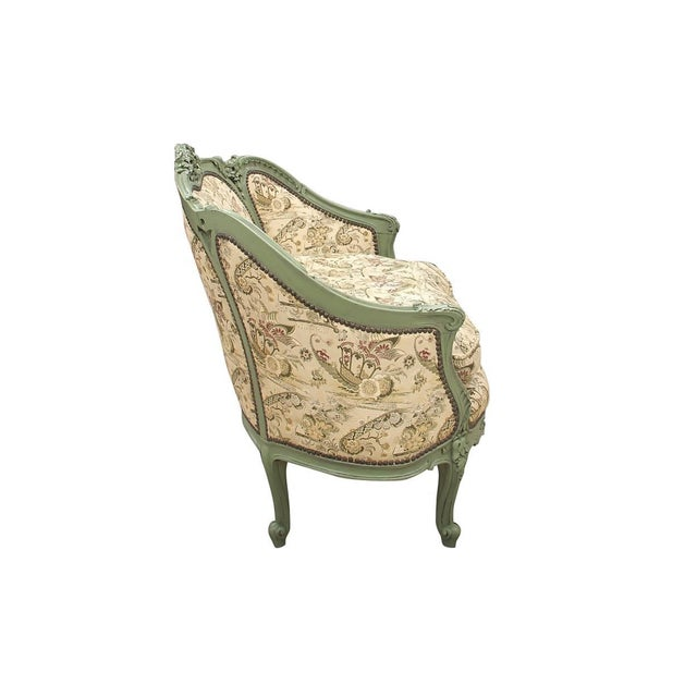 Shabby Chic French Rococo Style Settee For Sale - Image 3 of 9
