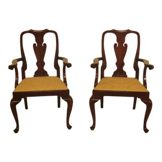 Pair of Henkel Harris Mahogany Dining Room Armchairs For Sale