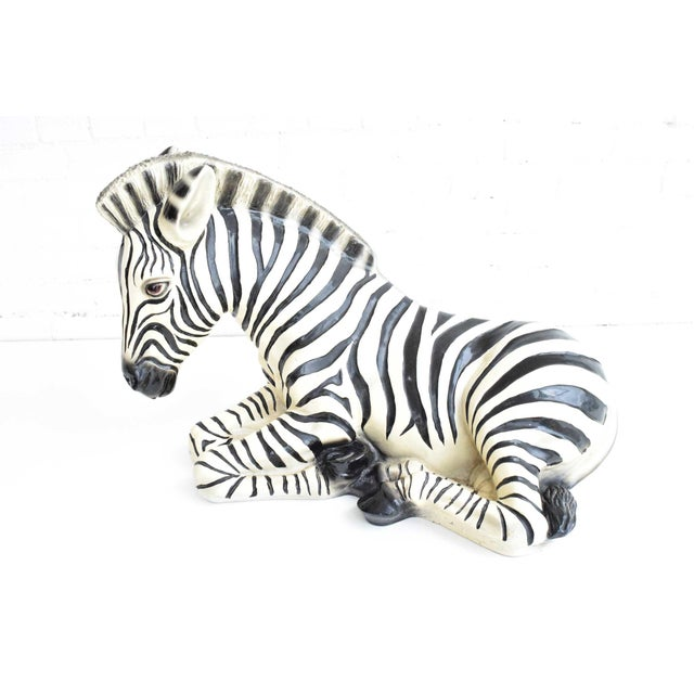 Ceramic Large Italian Ceramic Zebra For Sale - Image 7 of 7