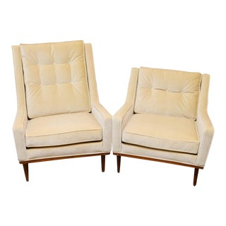 Milo Baughman King and Queen Chairs for James Inc For Sale