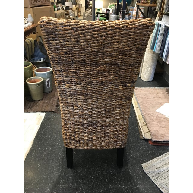 Cottage Woven Rattan Dining Chair For Sale - Image 3 of 8