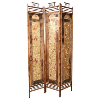 19th Century English Folder Bamboo Divider Screen For Sale
