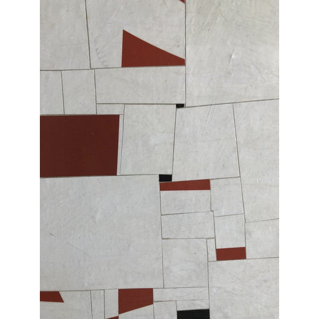 Abstract Collage on Canvas by Cecil Touchon For Sale - Image 3 of 11