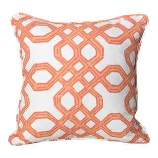 Lilly Pulitzer Clementine Orange Pillow Cover For Sale