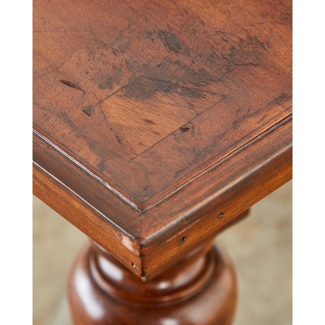 Country English Farmhouse Library Table or Work Table For Sale - Image 11 of 13