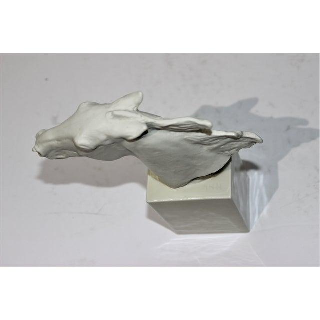 Vintage 1930s-1940s Horse Sculpture White Porcelain For Sale - Image 10 of 13