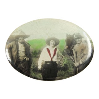 Vintage Cowgirl Pocket Mirror