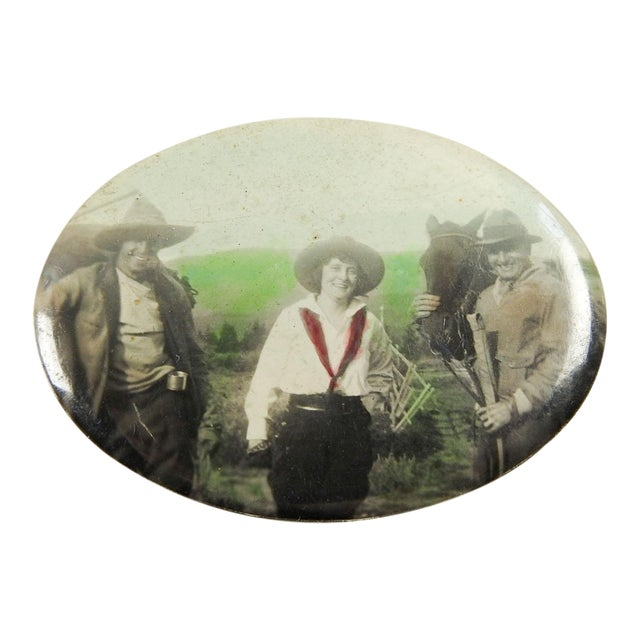 Vintage Cowgirl Pocket Mirror - Image 1 of 3