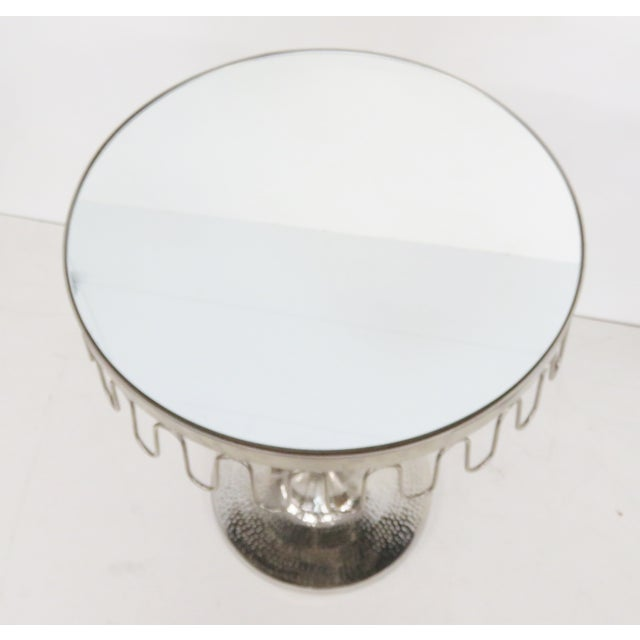 Chrome Art Deco Mirrortop Stands - A Pair - Image 3 of 4