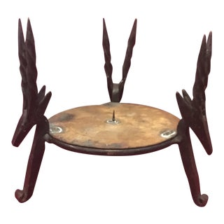 Wrought-Iron Reindeer Candleholder For Sale