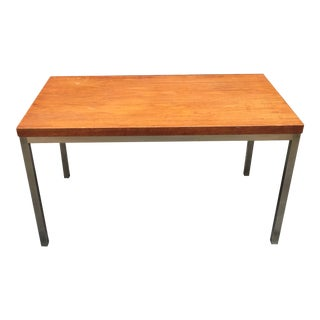 1960s Mid-Century Modern Teak and Aluminum Coffee Table For Sale