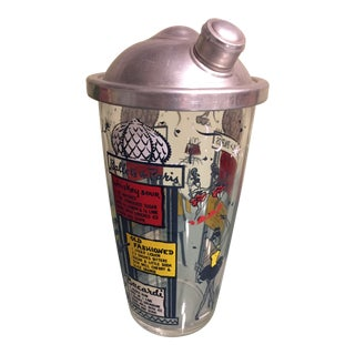 1950s Parisian Themed Cocktail Shaker For Sale