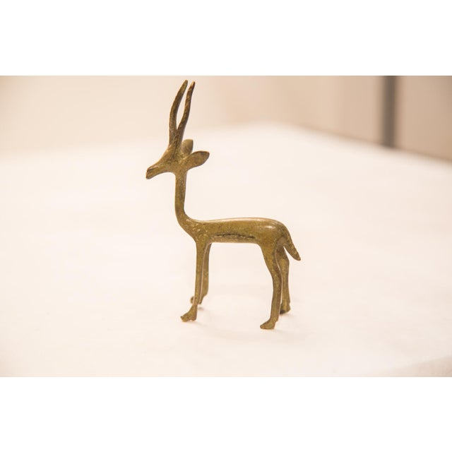 Vintage Bronze Gazelle Figurine / Ashanti Gold Weight For Sale In New York - Image 6 of 7