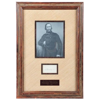 Giuseppe Garibaldi Framed Autograph For Sale