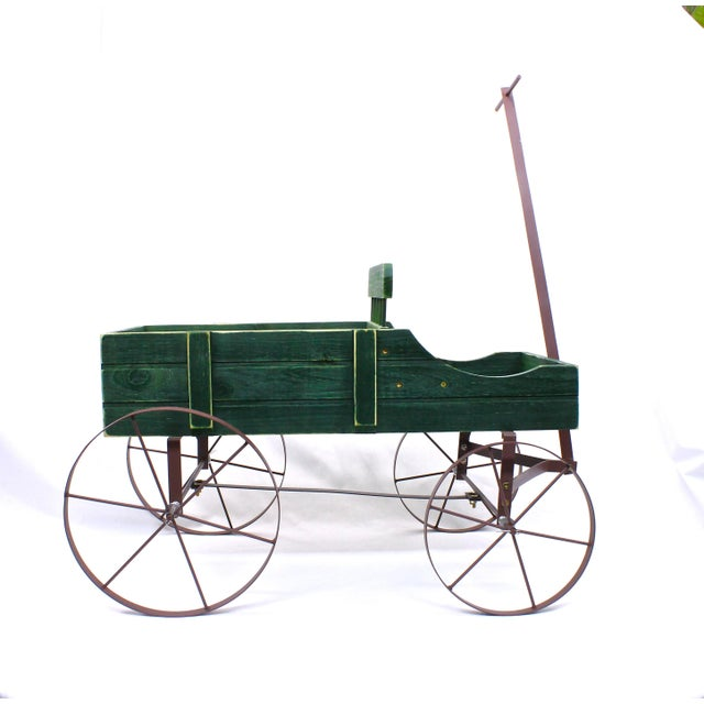 Cottage Vintage French Style Wagon Planter For Sale - Image 3 of 6